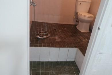 화장실 바닥시공